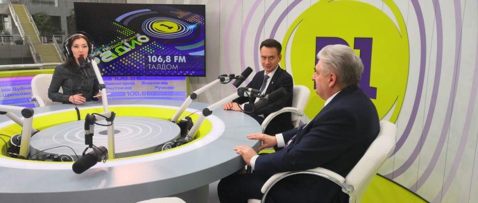 Карцов Олег Васильевич принял участие в прямом эфире на Подмосковном Радио 1